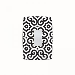 Adesivo para Interruptor Abstract Black