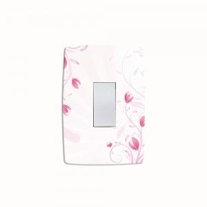 Adesivo para Interruptor Flores Rosas