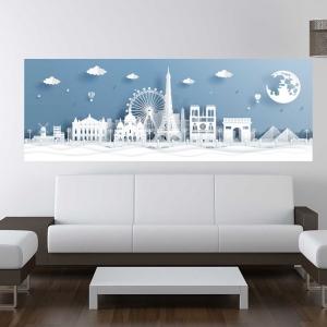 Adesivo Quadro Skyline Paris