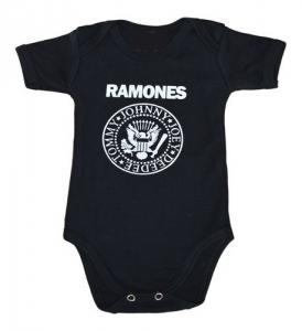 Body Bebê Banda Ramones Preto