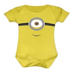 Body Bebê Divertido Minions - Não Descasca 100% Algodão