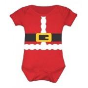 Body Bebê Fantasia Papai Noel - Feliz Natal