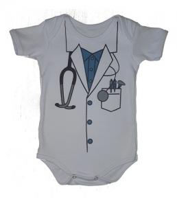 Body Bebês Divertidos Médico