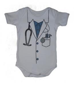 Body Bebês Divertidos Médico Baby Menino Fantasia Algodão