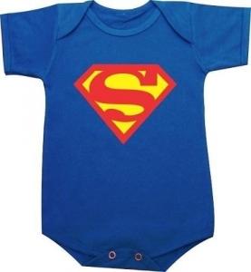 Body Para Bebês Super Bebê (superman) - Super Heróis Marvel