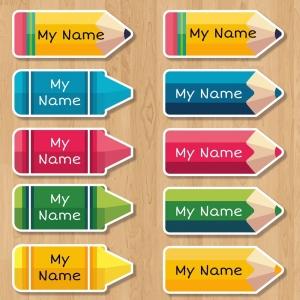 Etiquetas Escolares Personalizáveis