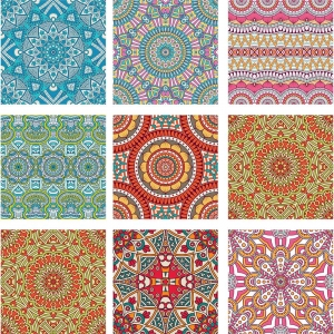KIT Adesivo de Azulejos Mosaicos Coloridos