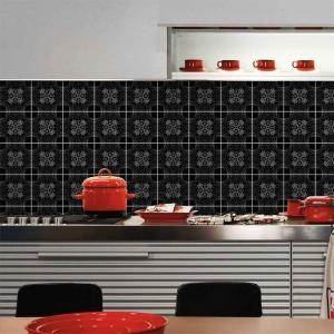 KIT Adesivos de Azulejos Black Floral