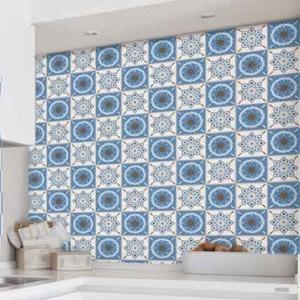 KIT Adesivos de Azulejos Blue Flowers