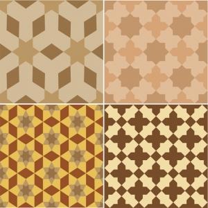 KIT Adesivos de Azulejos Brown