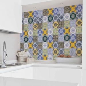 KIT Adesivos de Azulejos Coloridos Árabe