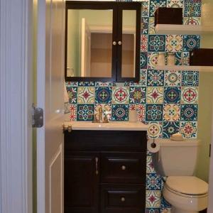 KIT Adesivos de Azulejos Coloridos Ornamentos