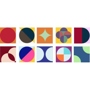 KIT Adesivos de Azulejos Contornos Coloridos