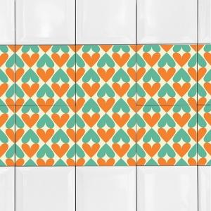 KIT Adesivos de Azulejos Corações 2