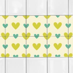 KIT Adesivos de Azulejos Corações