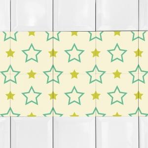 KIT Adesivos de Azulejos Estrelas