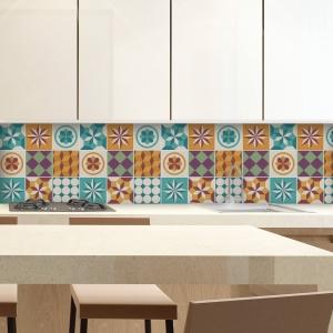 KIT Adesivos de Azulejos Geometric Fever