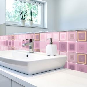 KIT Adesivos de Azulejos Illusion Pink