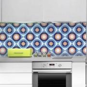 KIT Adesivos de Azulejos Laranja Azul
