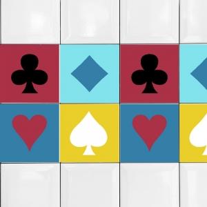 KIT Adesivos de Azulejos Naipe