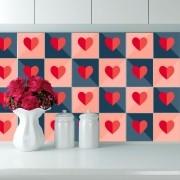 KIT Adesivos de Azulejos Pequenos Corações