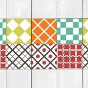 KIT Adesivos de Azulejos Retrô Colors