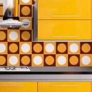 KIT de Adesivos de Azulejos Orange
