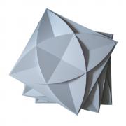 Placa 3D Autoadesiva 25x25 Amsterdam- Linha POP