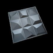 PLACA 3D AUTOADESIVA 50 X 50CM VÉRTICE DARK - PREMIUM