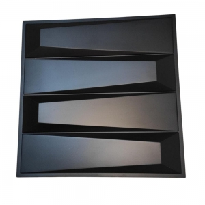 Placa 3D Autoadesiva 50x50cm Escaleno Dark