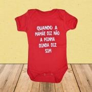- Roupinha Bebê Presente Madrinha Dinda Body 100% Algodão