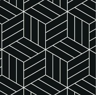 Adesivo de Azulejo Cubos 3D Preto e Branco