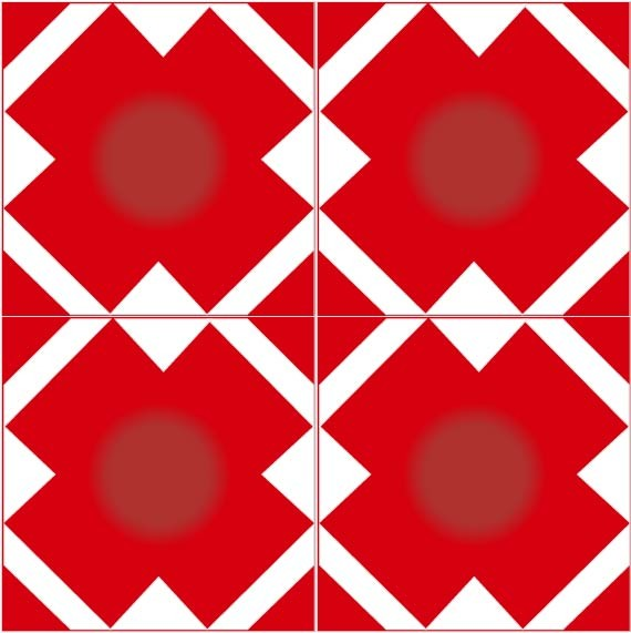 Adesivo de Azulejo Vermelho vivo
