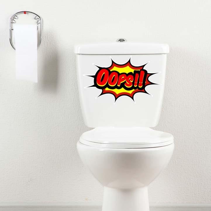 Adesivo de Banheiro Balão Oops