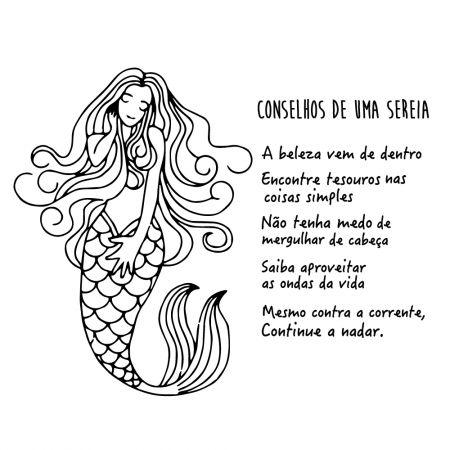 Adesivo de Banheiro Conselhos de uma Sereia
