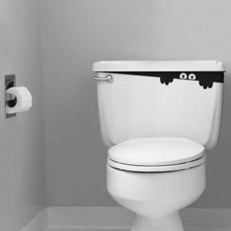 Adesivo de Banheiro Espião