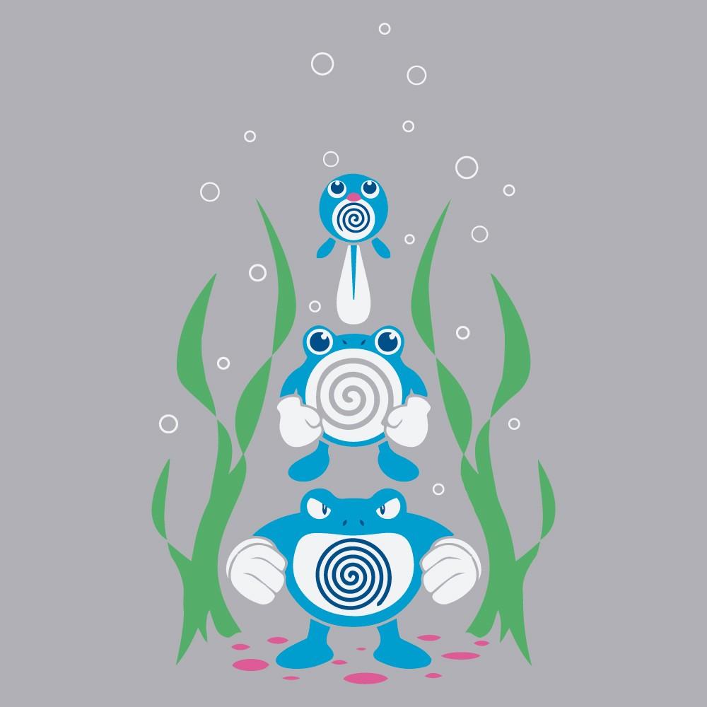 Adesivo de Banheiro Evolução Poliwag Pokemon