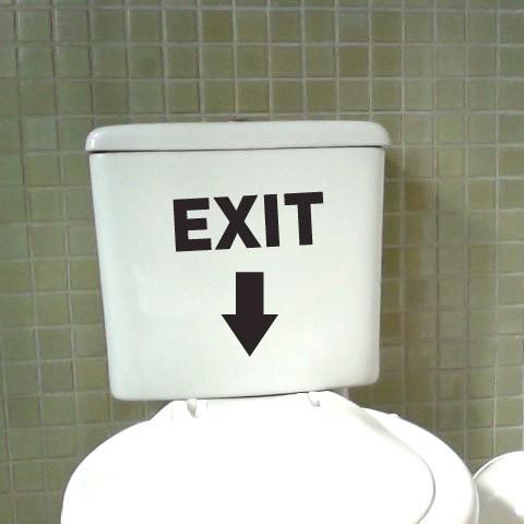 Adesivo de Banheiro Divertido Exit