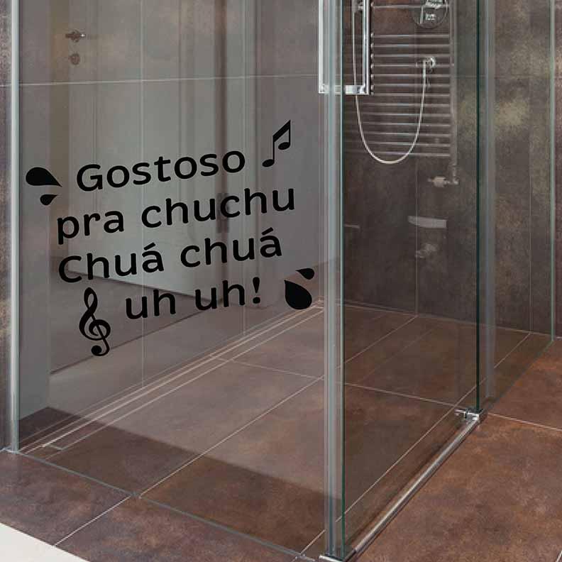 Adesivo de Banheiro Gostoso pra Chuchu