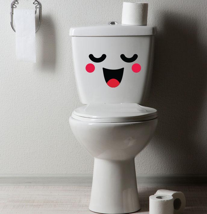Adesivo de Banheiro Kawaii