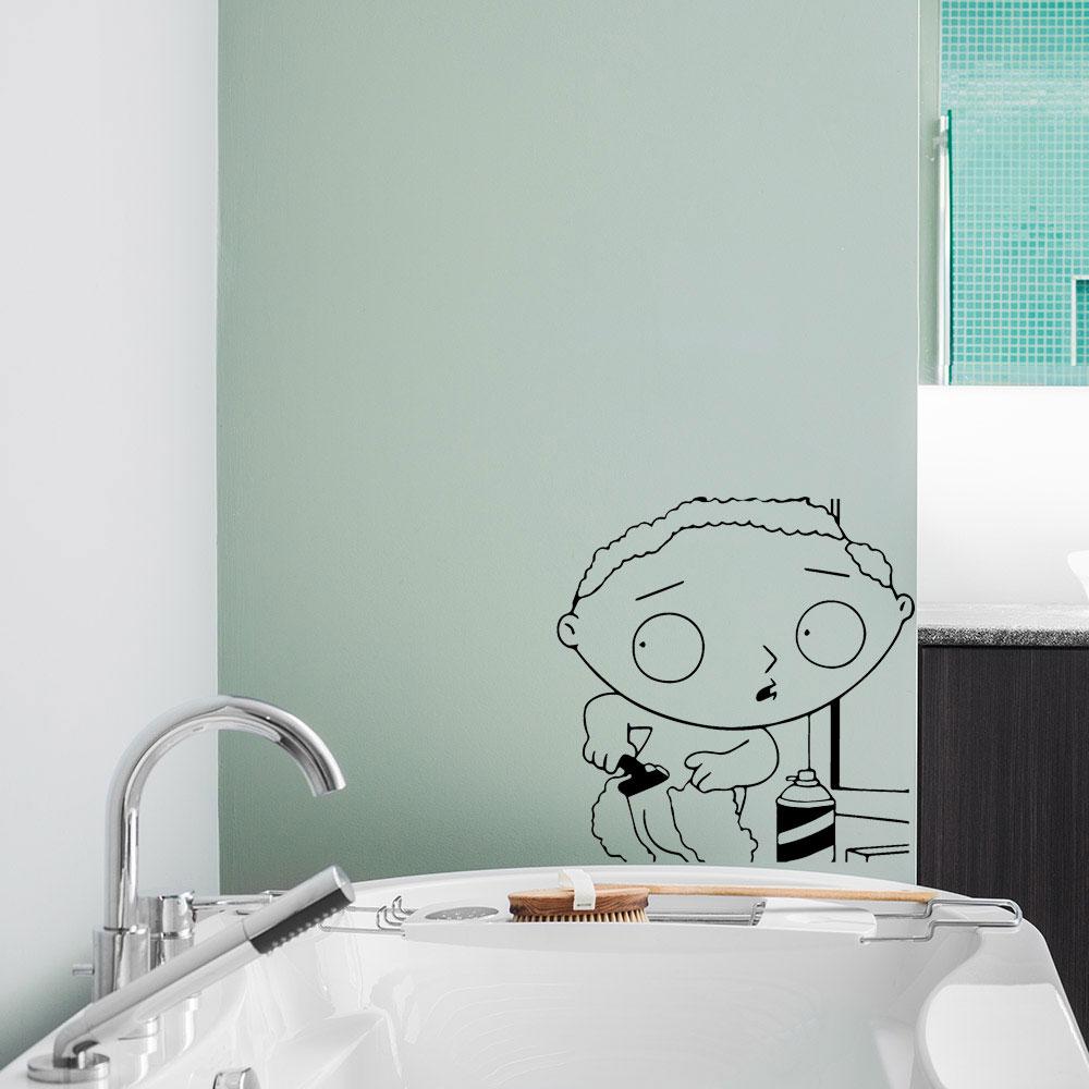 Adesivo de Banheiro Stewie Surpresa