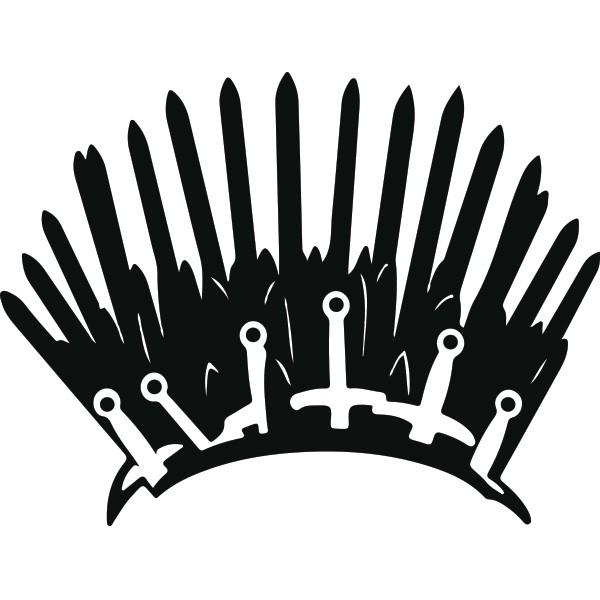 Adesivo de Banheiro Trono de Game of Thrones