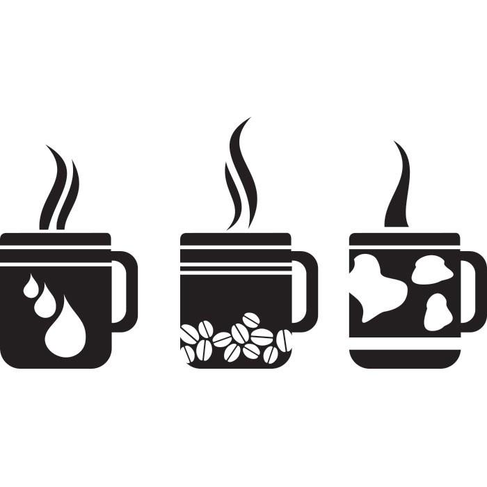 Adesivo de Cozinha Café