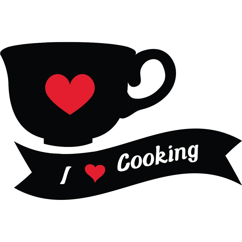 Adesivo de Cozinha I Love Cooking