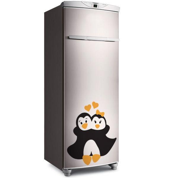Adesivo de Geladeira Abraço Pinguim
