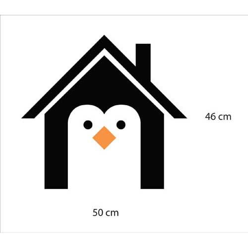 Adesivo de Geladeira Casa do Pinguim