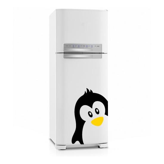 Adesivo de Geladeira Casal Pinguins Jovens