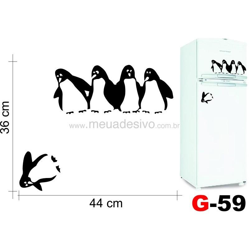 Adesivo de Geladeira Equipe Pinguins