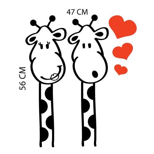 Adesivo de Geladeira Girafa Apaixonada