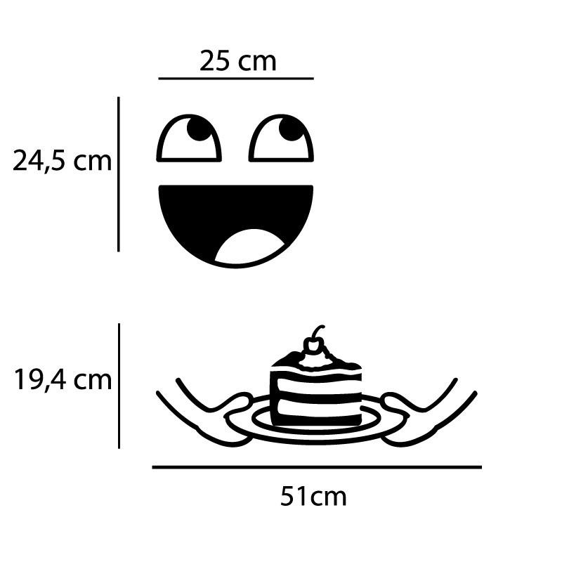 Adesivo de Geladeira Happy Cake